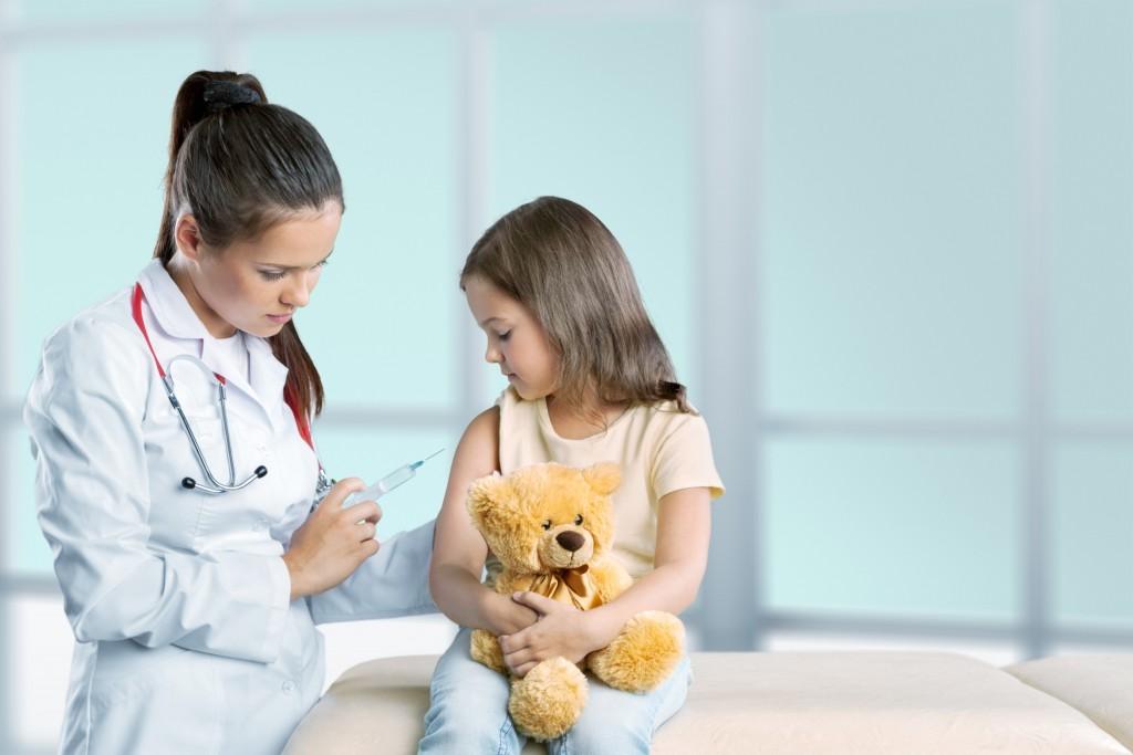 kid getting a vaccine