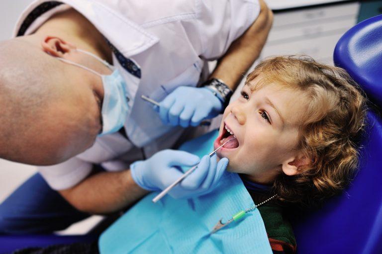 kid having dental treatment