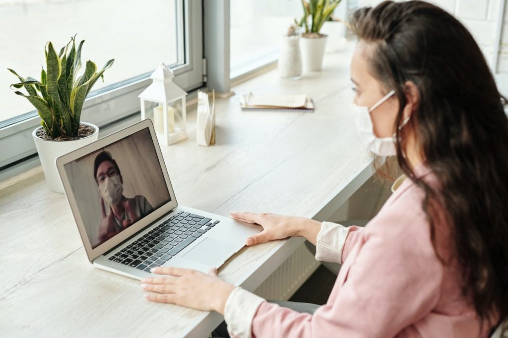woman in a videocall