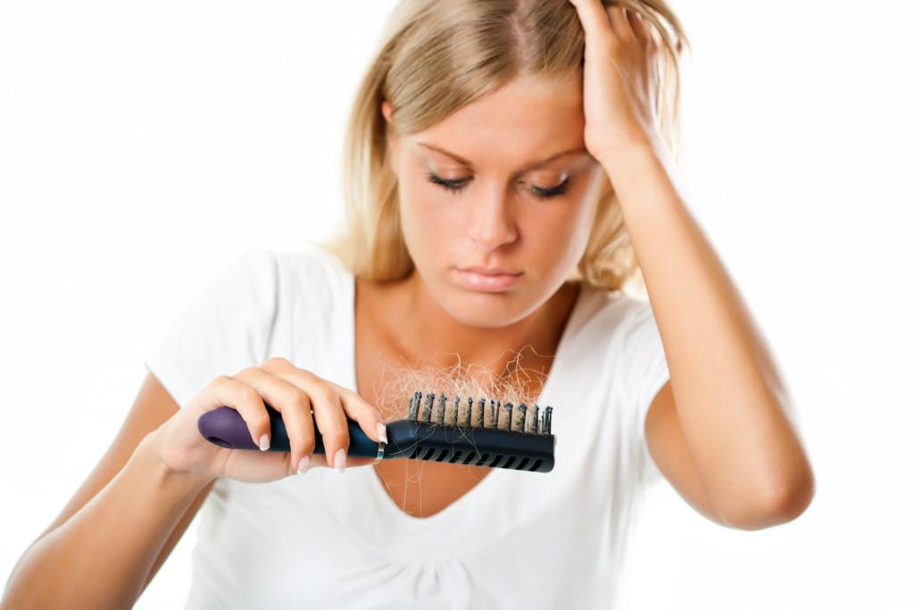 woman with hairfall