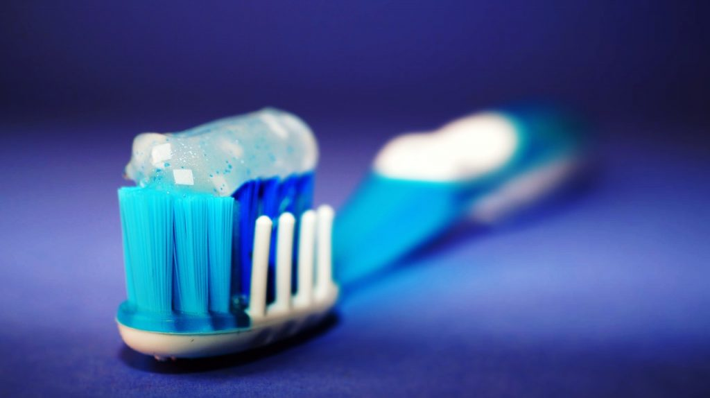 tooth brush with paste