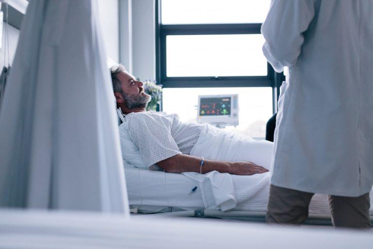 man at the hospital